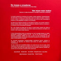 Tema de la Muestra de arte de musas a creadoras en el Instituto Cervantes Utrecht